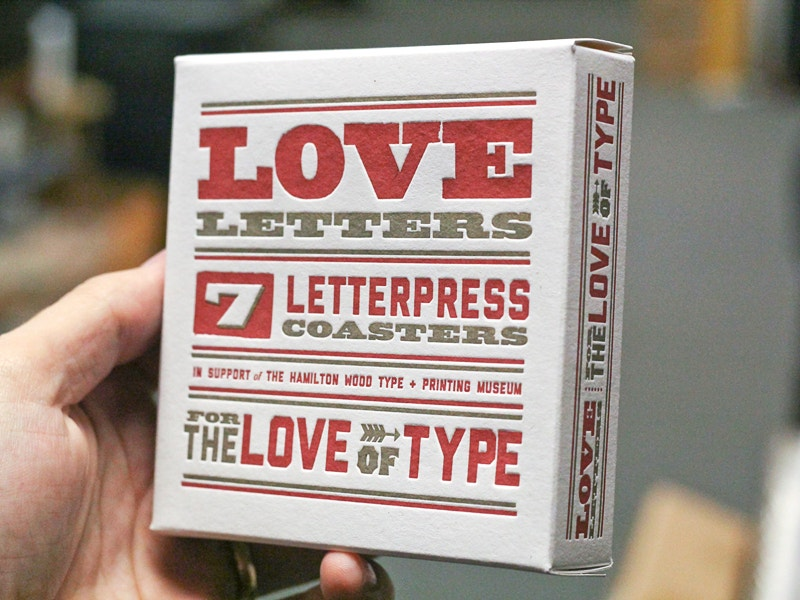 Letterpress Love Letters Packaging