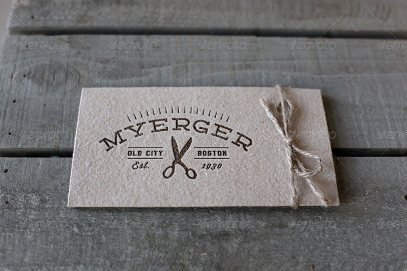 Letterpress Label Mockup