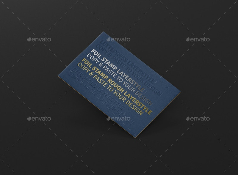 Letterpress Business Cards Mock-Up