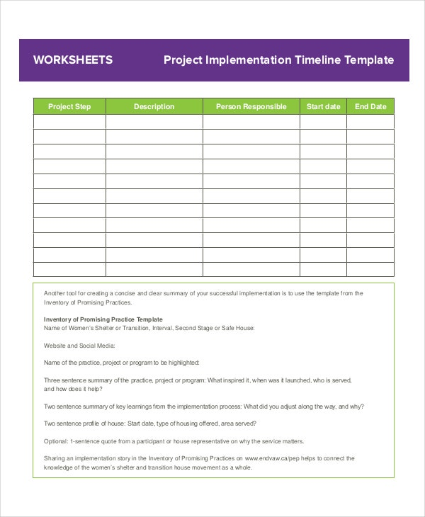 project timeline example 8 free word pdf documents download