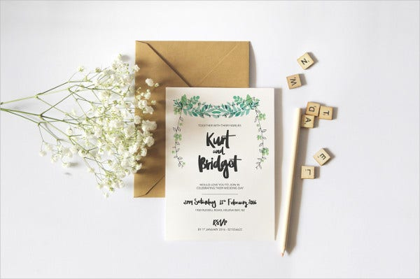 Bridget Wedding Invitation