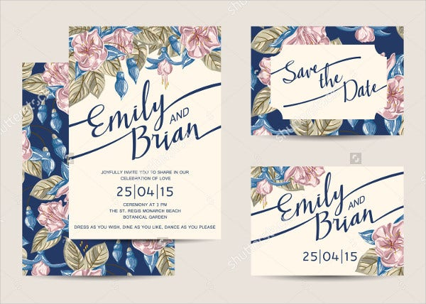 21 simple wedding invitation templates free premium templates floral design wedding invitations template stopboris Gallery