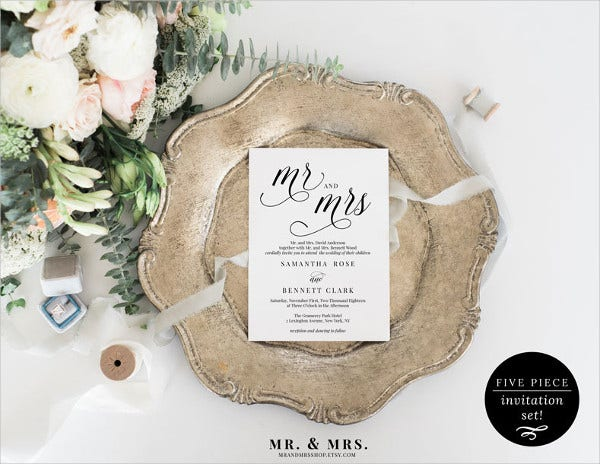 21 simple wedding invitation templates free premium templates