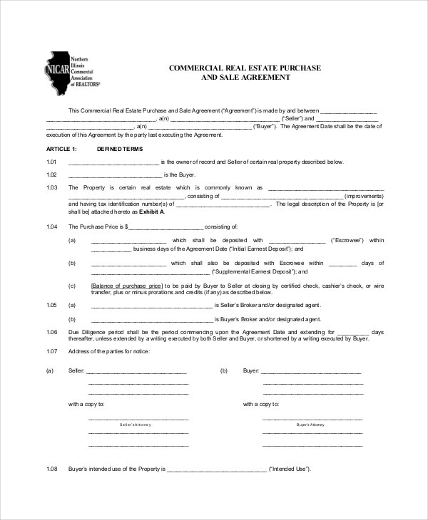 Lease Purchase Agreement 9 Free PDF Word Documents Download – Commercial Purchase Agreement