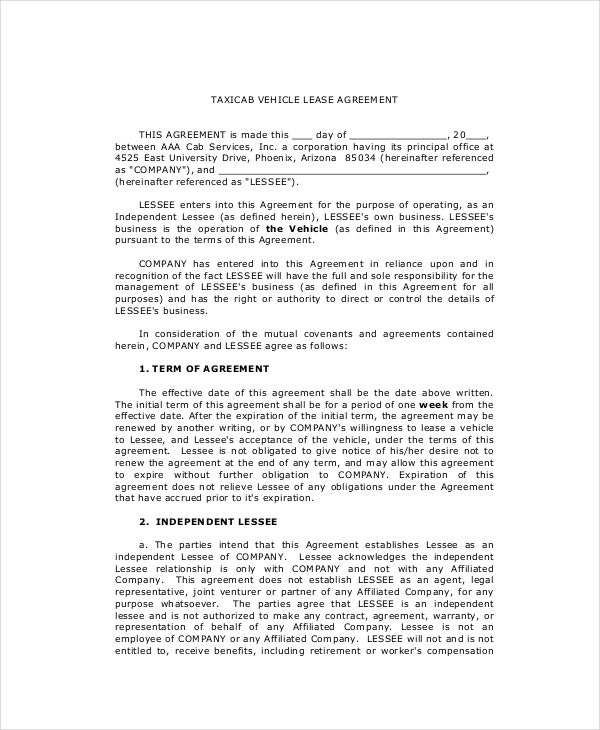 Lease Purchase Agreement 9 Free PDF Word Documents Download – Vehicle Purchase Agreement