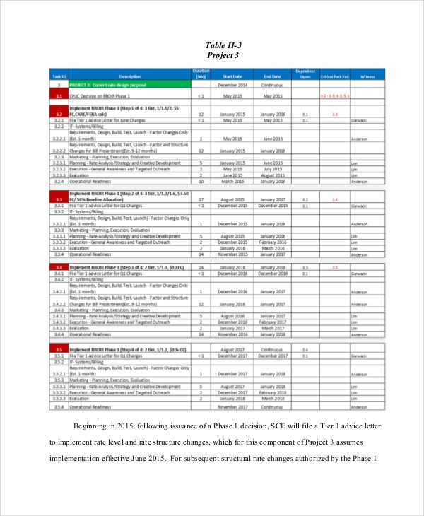 Project Timeline Example Free Word PDF Documents Download - It project timeline template