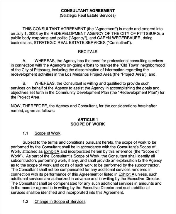 Consulting agreement 11 free word pdf documents download free real estate consulting agreement template cheaphphosting