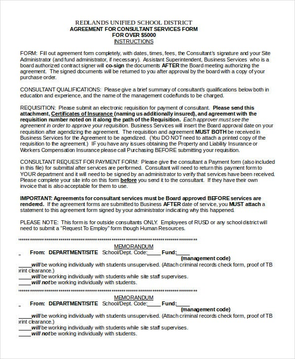 Consulting agreement 11 free word pdf documents for It consulting contract template