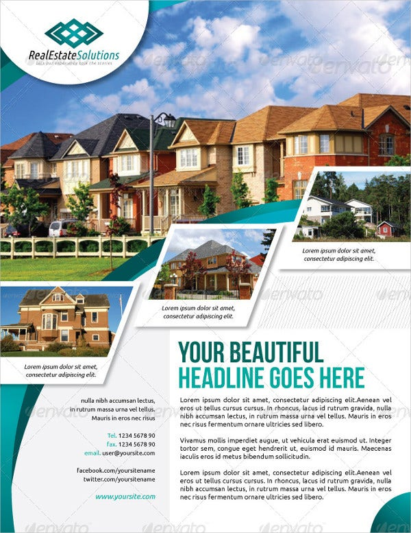 real estate brochure template free download - 19 real estate flyer template free psd vector ai eps