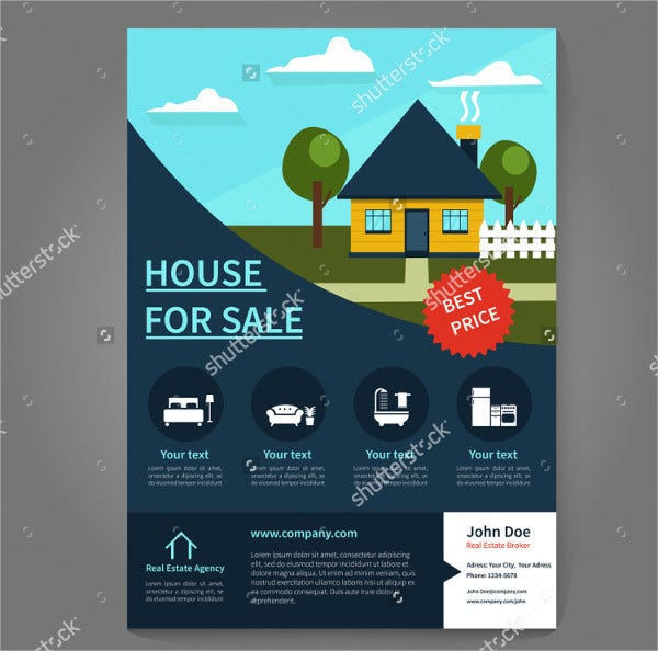 Real Estate Broker Flyer and Poster Template