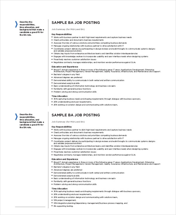 It Job Descriptions - 7+ Free Pdf, Word Documents Download | Free