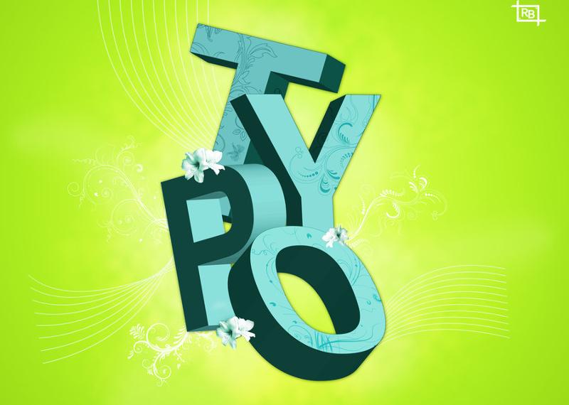 Typo 3D Poster Design Free