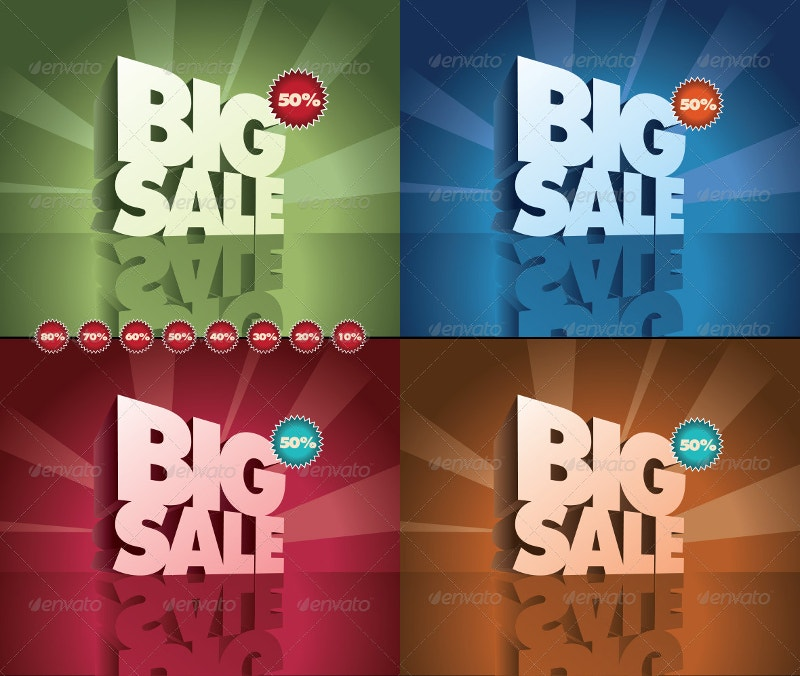 Big Sale 3D Poster Design