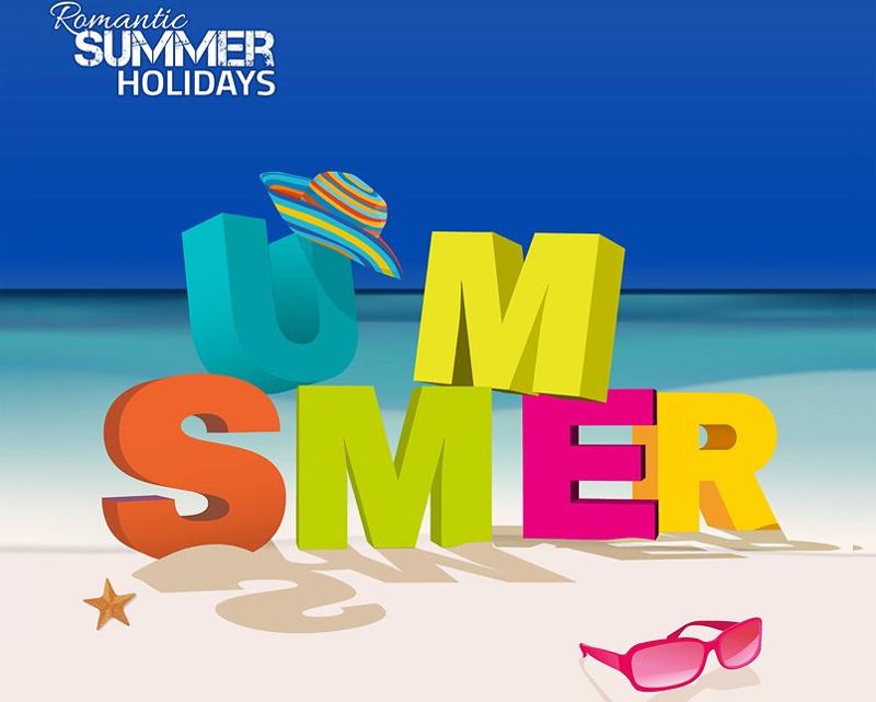 3D Summer Letter Poster