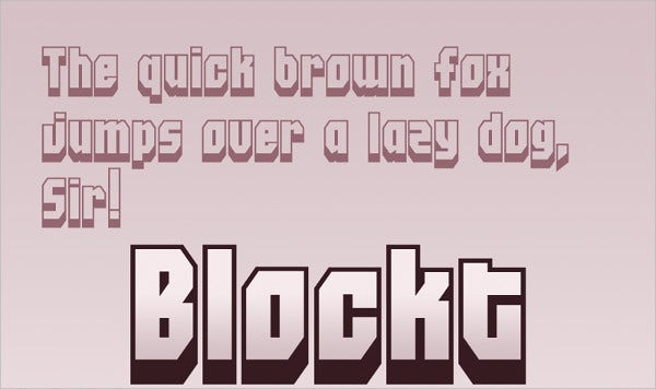 Cartoon Design Block FOnt