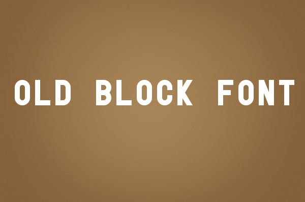 Vintage Block Style Font