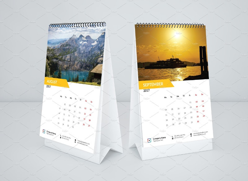 Vertical Calendar Design : Desk calendar designs free premium templates