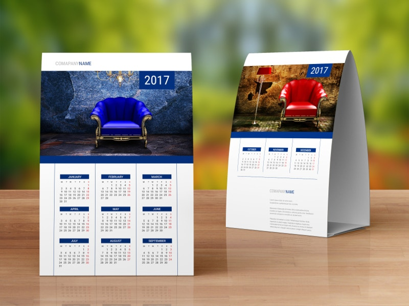 Table Calendar Design : Desk calendar designs free premium templates
