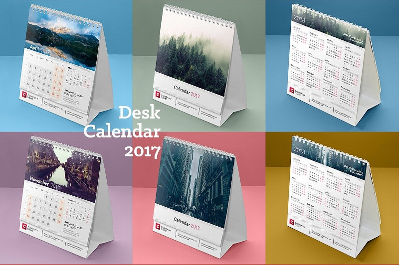 Stationary Desk Calendar 2017