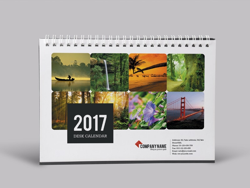 15 2017 Desk Calendar Designs Share Stock