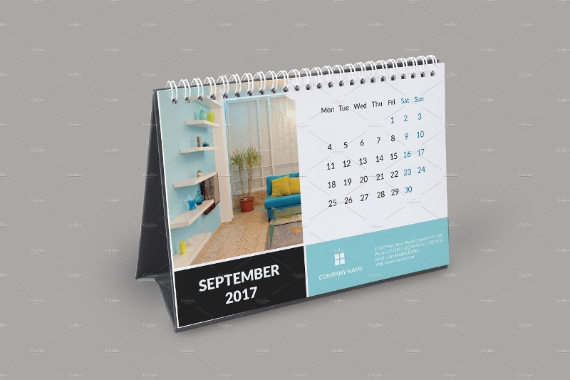 18 2017 desk calendar designs free premium templates. Black Bedroom Furniture Sets. Home Design Ideas