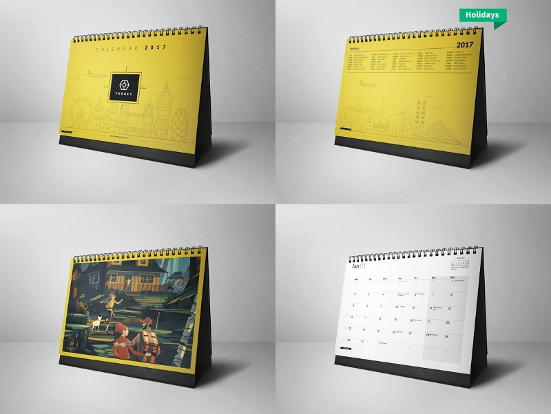 Business Calendar Design : Desk calendar designs free premium templates