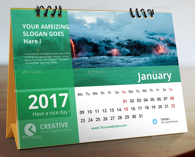 Desk Calendar 2017 Photography
