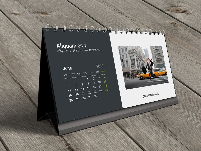 Unique Table Calendar Design : Desk calendar designs free premium templates