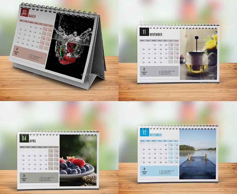 Corporate Calendar 2017 : Desk calendar designs free premium templates