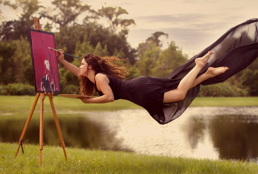 Self Portrait Levitation Photography