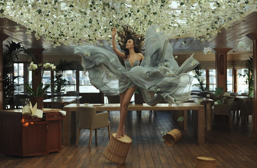 Floral Levitation Photography