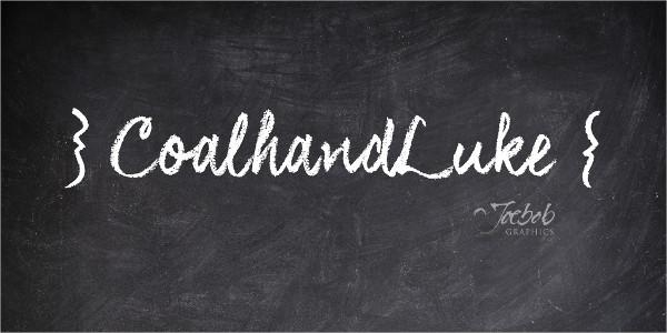 Chalkboard Font For Greeting Card Design