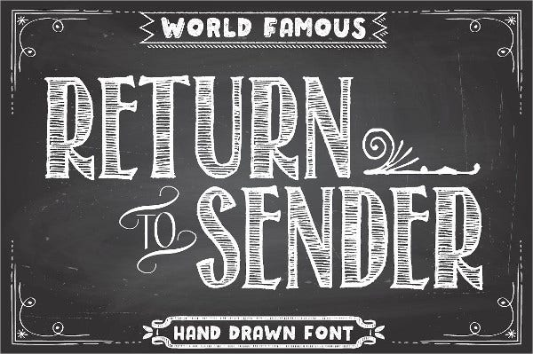 Chalkboard Font For Party Banners