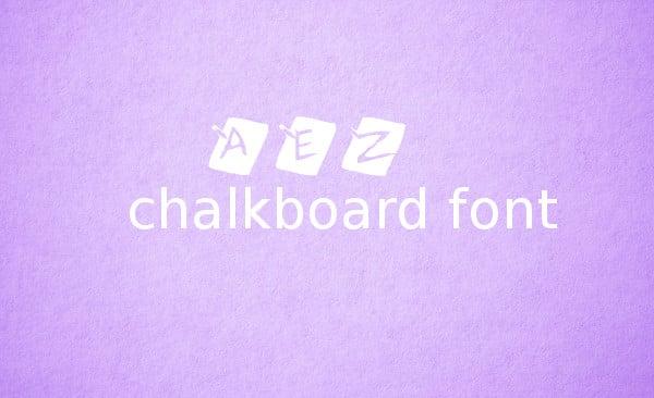 Free Cool Chalkboard Font