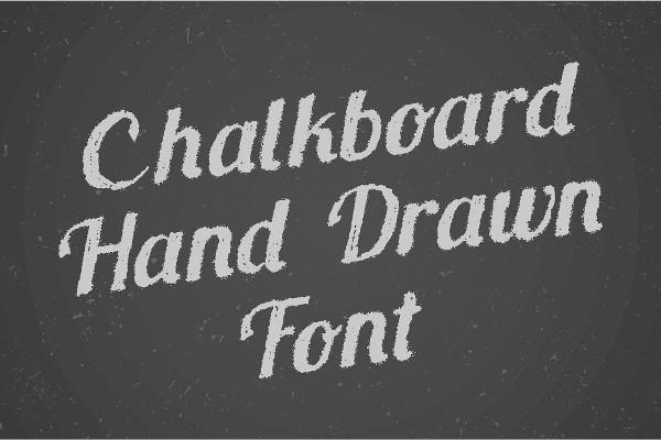 Hand Drawn Chalkboard Font
