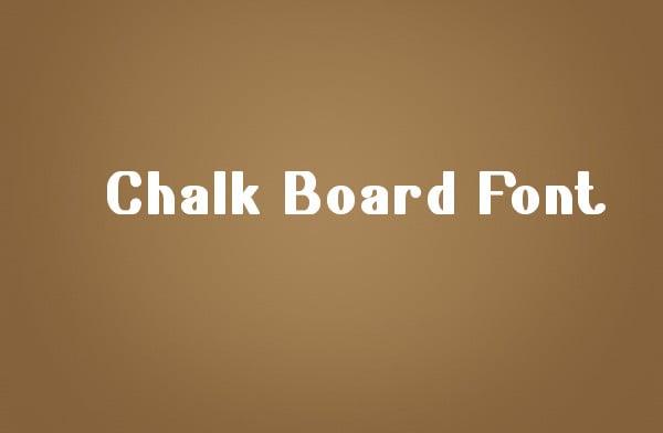 Welcome Chalkboard Font