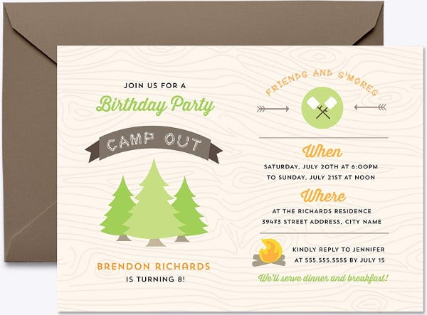 Digital Template Birthday Party Invitation