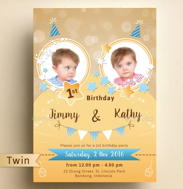 Invitation Birthday Card Orderecigsjuiceinfo - Birthday invitation cards twins