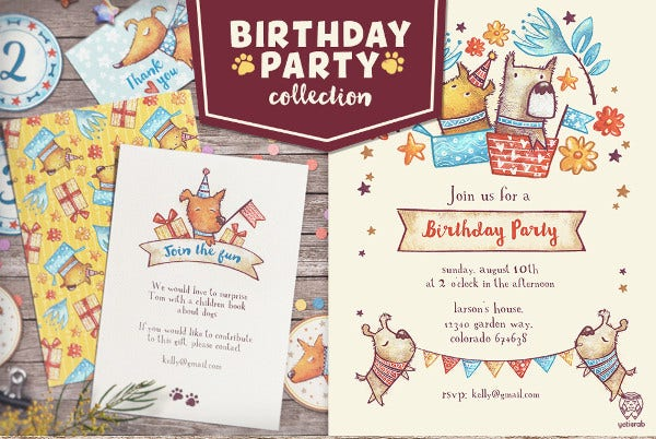 Cute Birthday Party Invitation Card