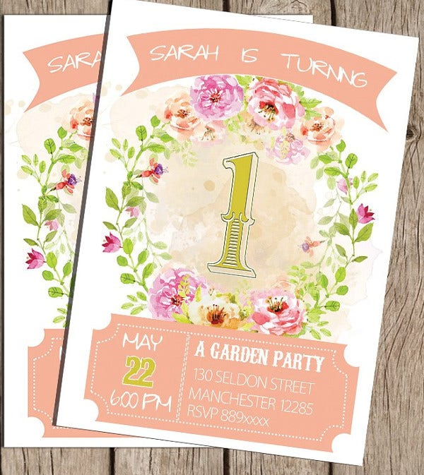 Editable Birthday Invitation