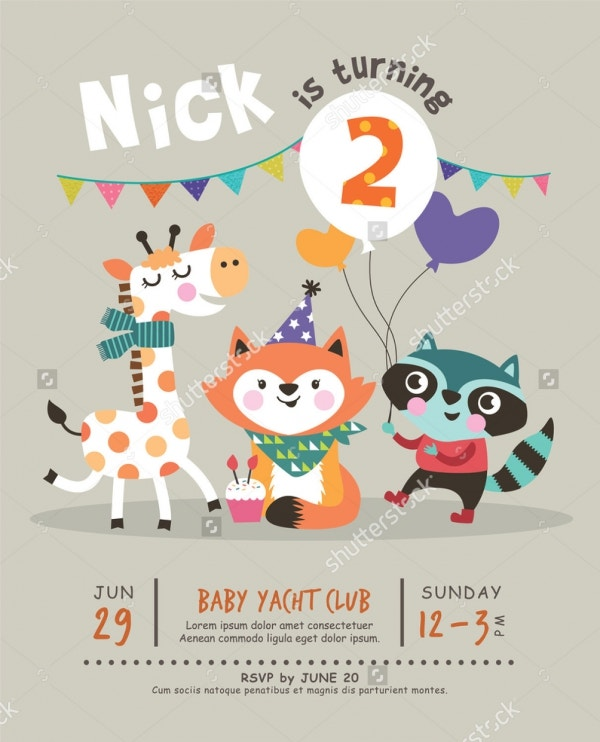22 beautiful kids birthday invitations free psd eps vector kids birthday party invitation card filmwisefo