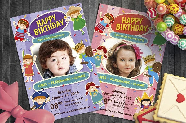 Kid Birthday Invitation Set