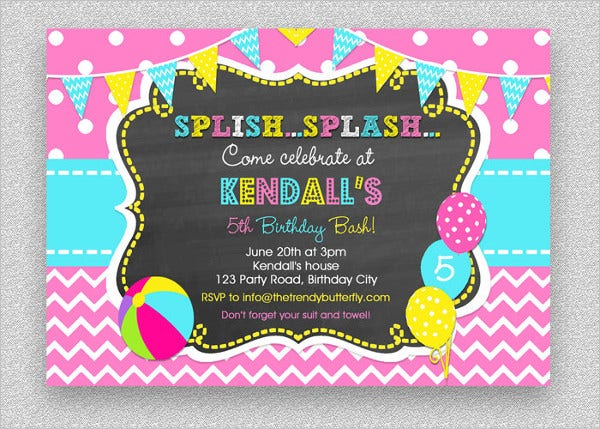 33  printable pool party invitations