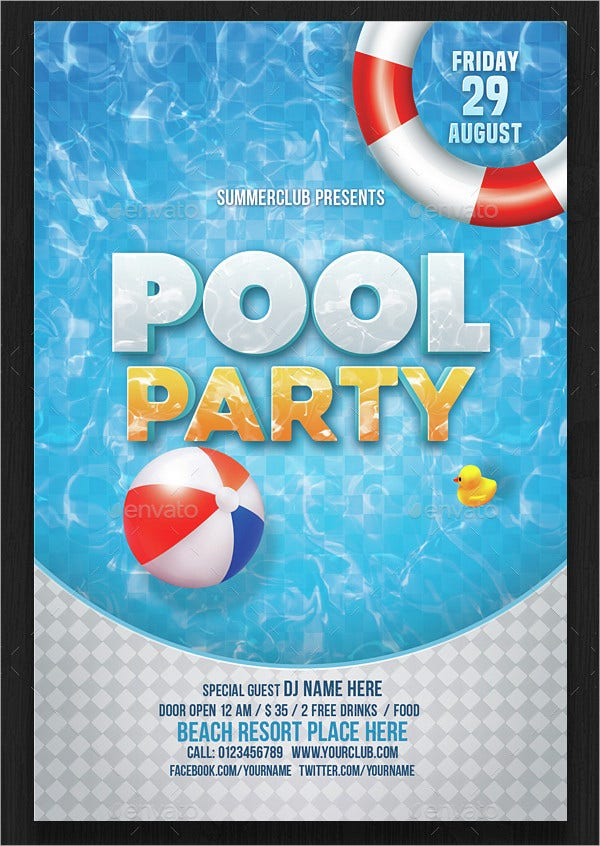 pool party invitation template free - carlosdelarosavidal.tk