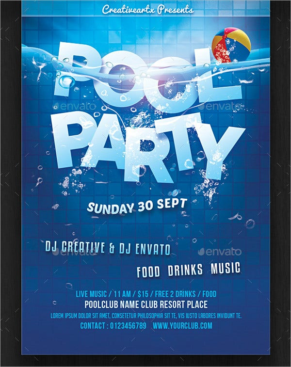 Weekend Pool Party Invitaion