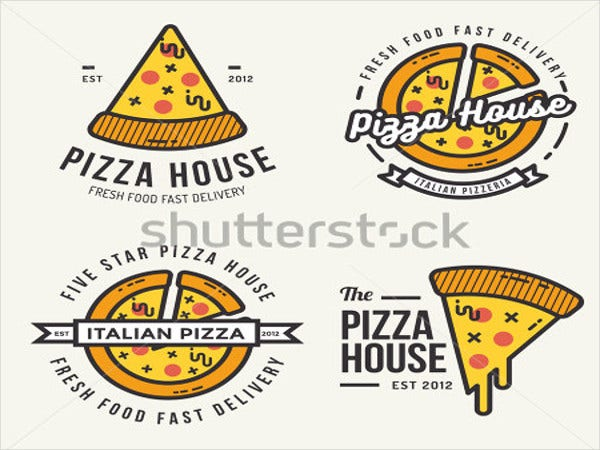 set-of-pizza-logo-design
