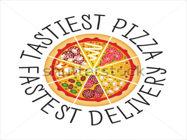 flat-pizza-logo-design
