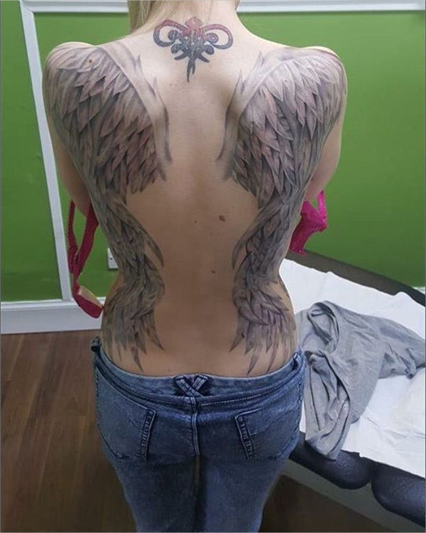 Angle Wings Tatto For Girl