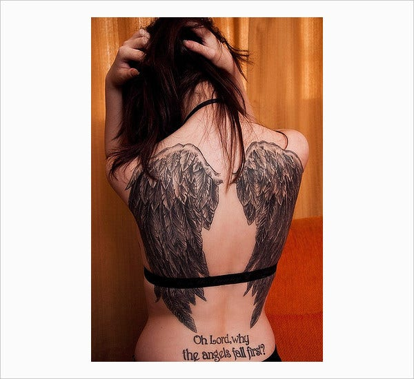 Fashionable Angel Wings Tattoo