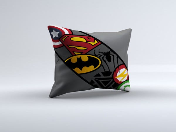 superhero-logo-throw-pillow